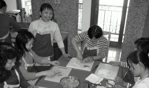 Cooking class for ayis
