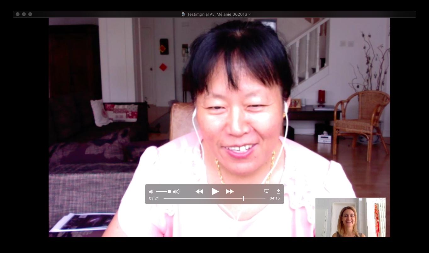 Video - Testimonial Online program