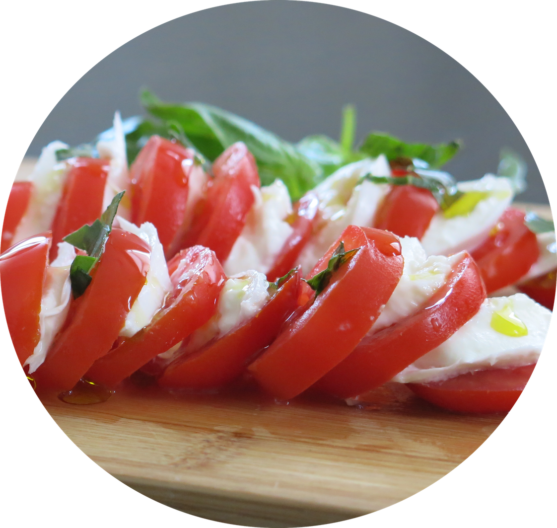 tomato mozzarella_bilingual cookbook